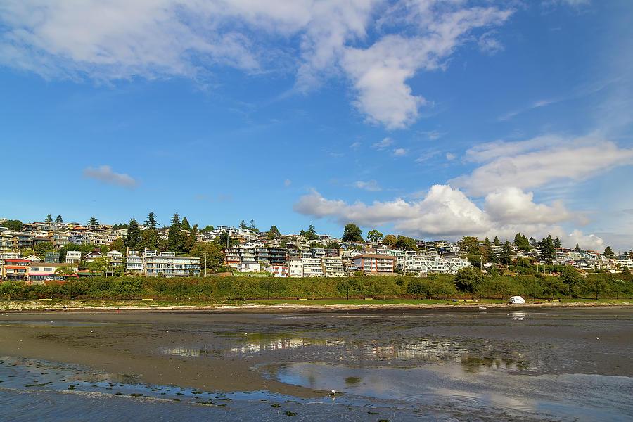 White Rock Photograph - Waterfront Condominiums along White Rock Promenade by David Gn
