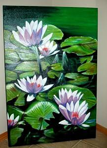 Floral Painting - Waterlilies For Erin by Eileen Kasprick