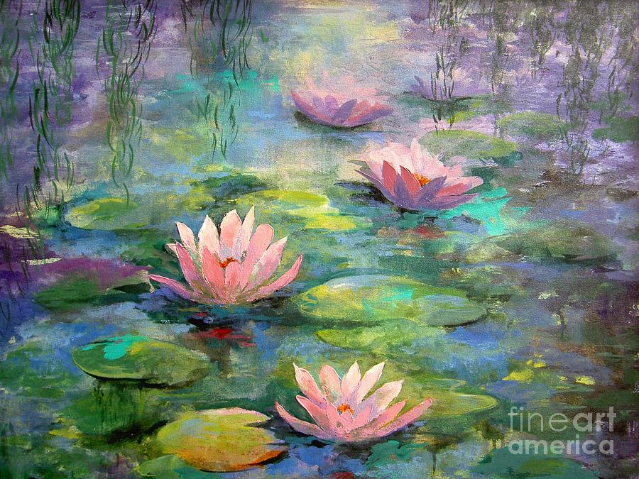 Water Color Paint A Waterlily