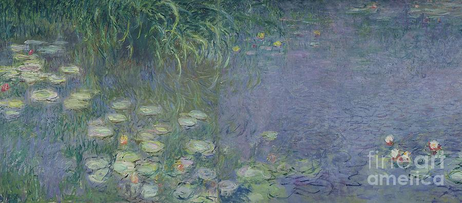 Impressionism Painting - Waterlilies Morning by Claude Monet