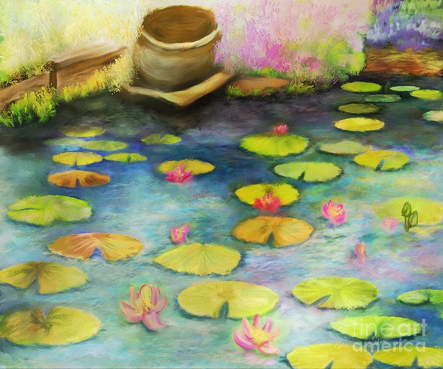 Nature Digital Art - Waterlilies by Sydne Archambault