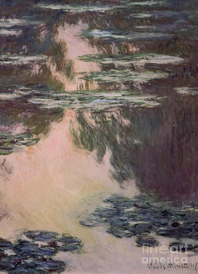 Waterlilies Painting - Waterlilies With Weeping Willows by Claude Monet