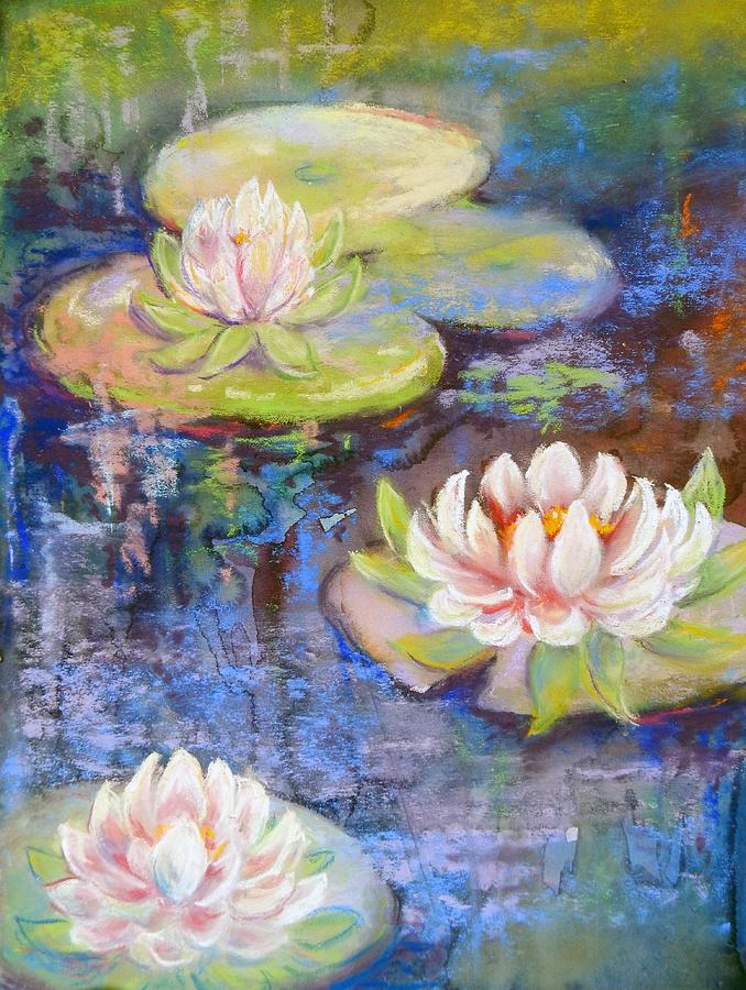 Plants Painting - Waterlillies by Caroline Patrick