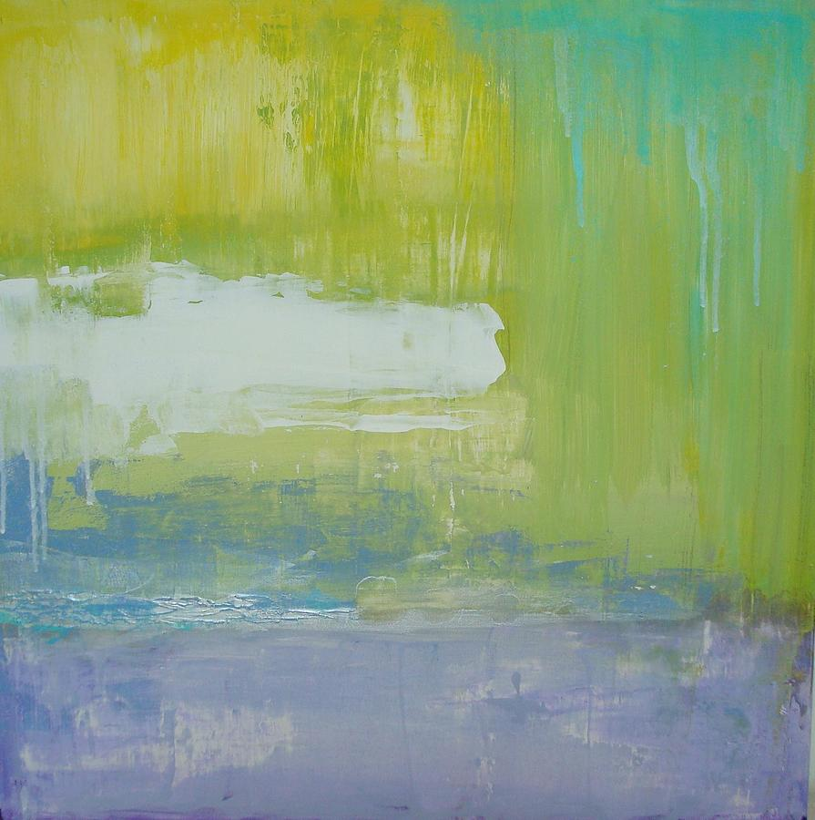 Contempoary Painting - Waterlilly by Ora Birenbaum