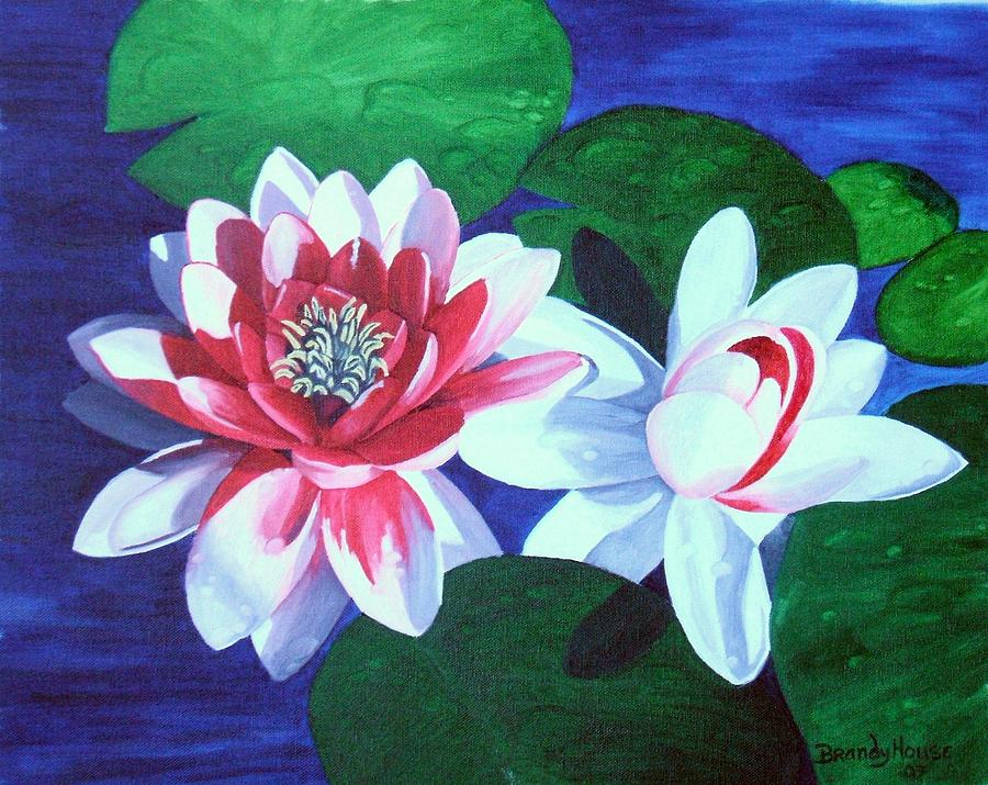 Water Lilies Painting - Waterlily Dance by Brandy House