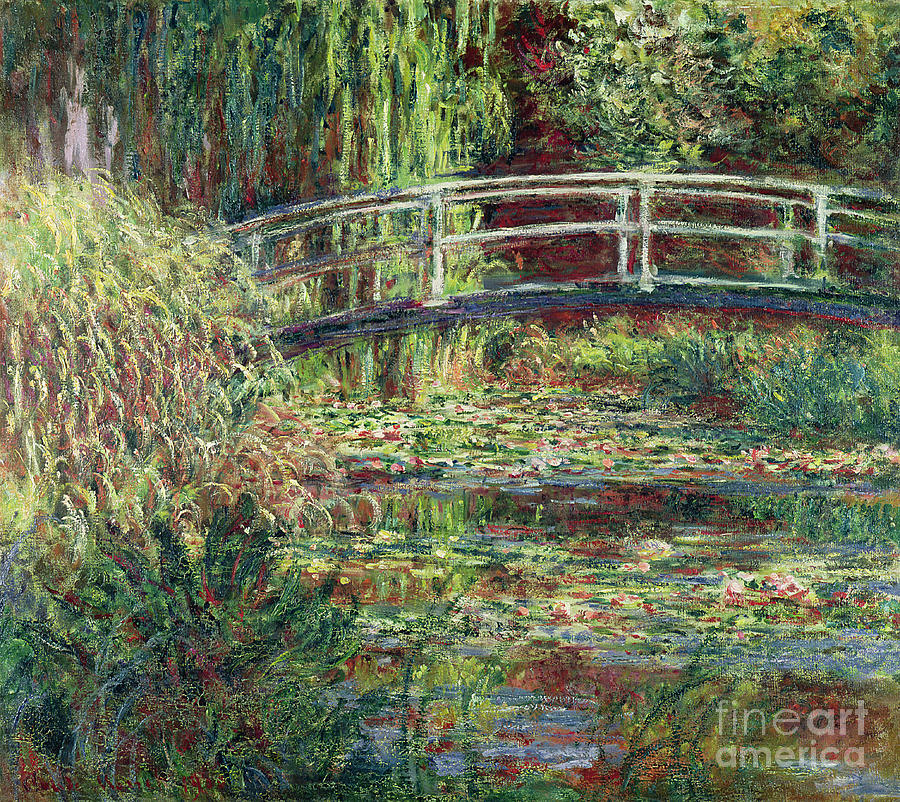 Claude Monet Painting - Waterlily Pond Pink Harmony 1900 by Claude Monet