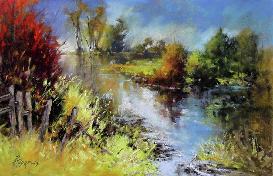 Landscape Painting - Waterline by Rae Andrews