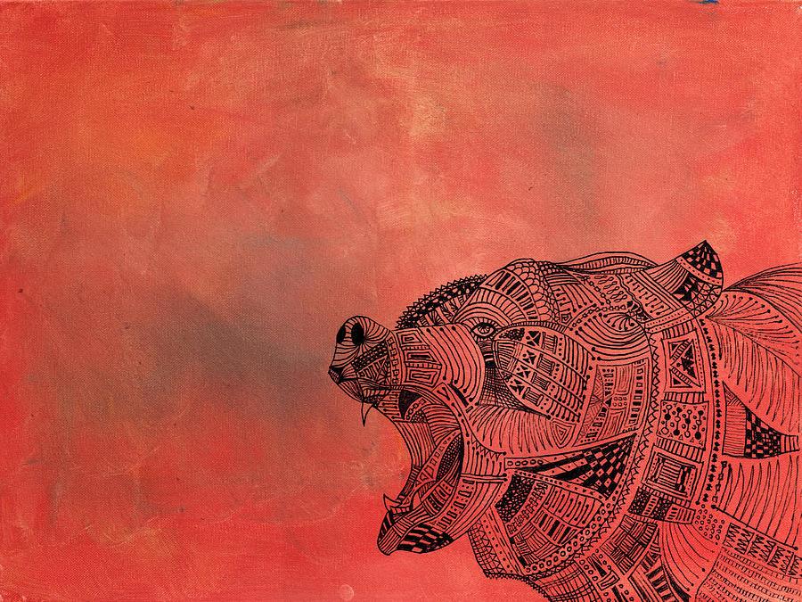 Bear Painting - Watermelon Bear by Matthew Daigle