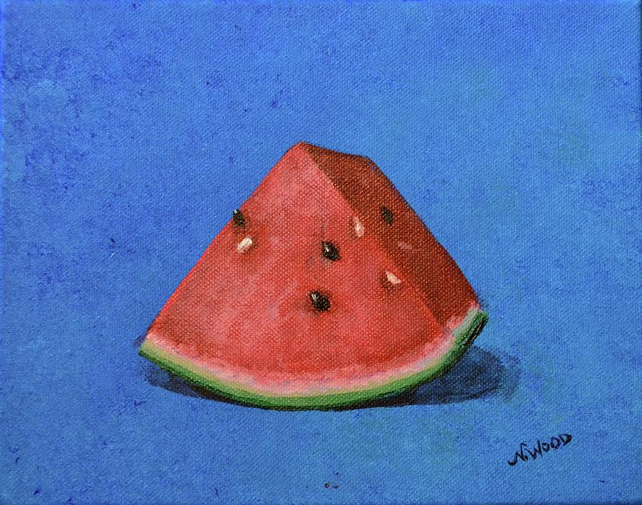Watermelon Painting - Watermelon by Nancy Otey