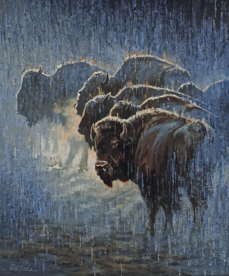 Bison Painting - Waterproof by Mia DeLode