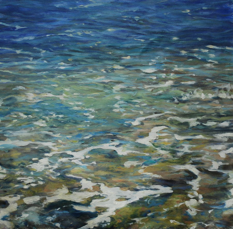 Waters Edge- 27 x 27 Painting by Marilyn Muller