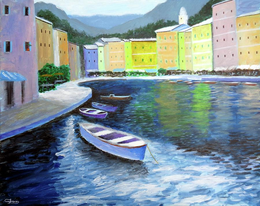 waters of portofino  by Larry Cirigliano
