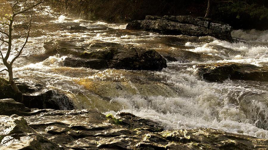 Waters Over Rocks. Falls Of Dochart, Photograph