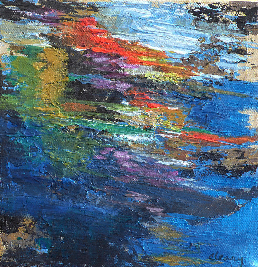 Original Painting - Waters Poetry  No. 4 by Melody Cleary