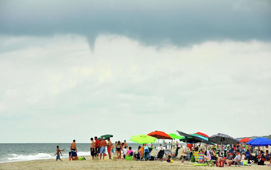 Outerbanks Photograph - Waterspout by JAMART Photography