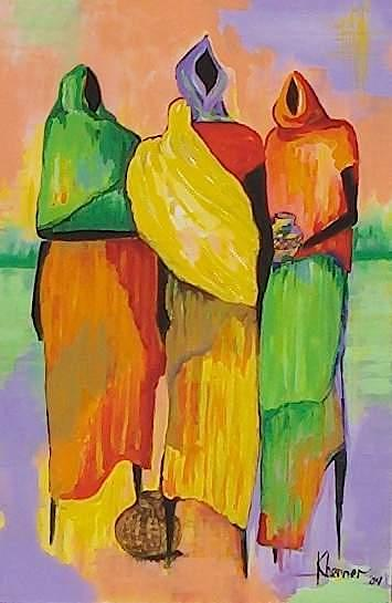 Painting Painting - Watert Bearer by Kathleen  Henner