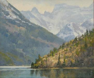 Waterton Lakes Painting - Waterton Lakes National Park by Tony Bianco