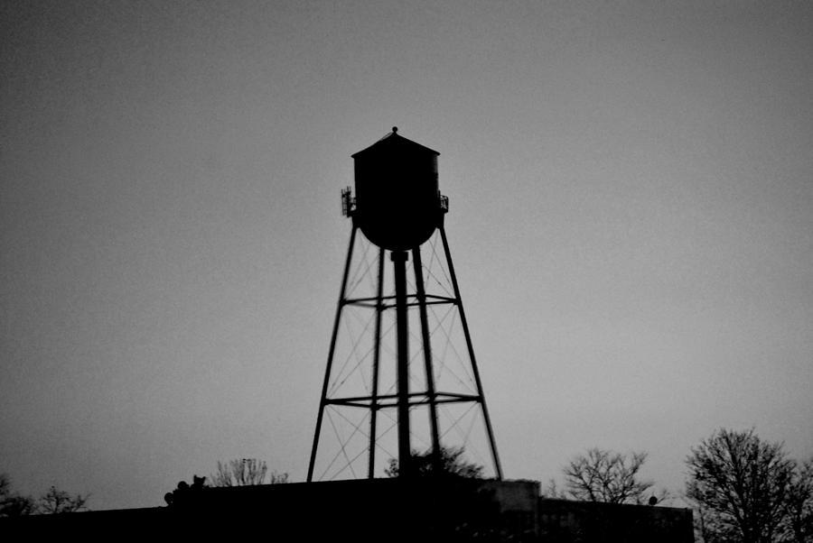 Water Digital Art - Watertower In Black And White by Michelle  BarlondSmith