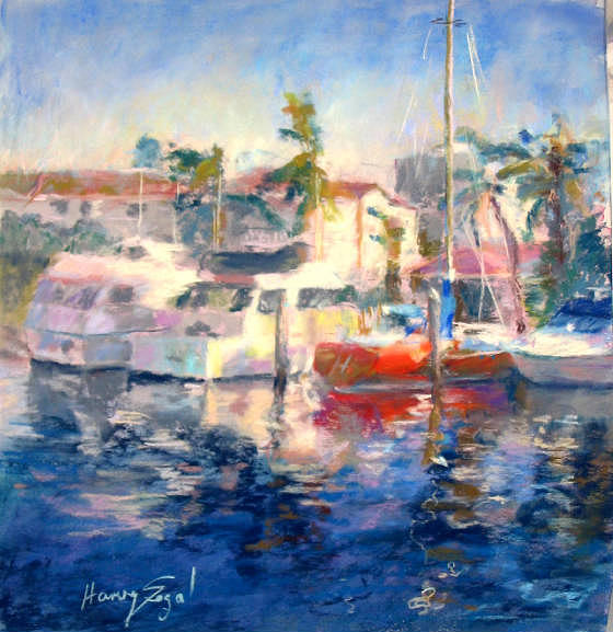 Landscape Painting - Waterways 1 by Harvey Segal