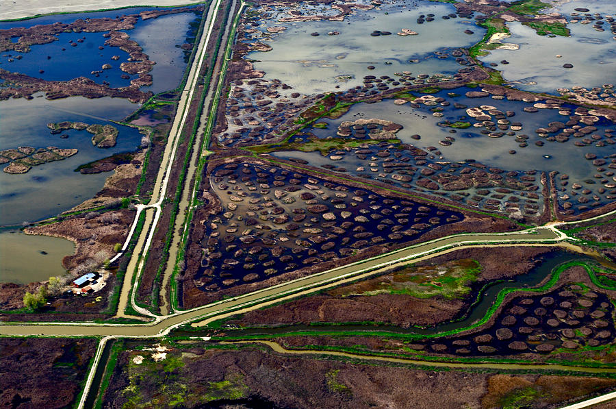 Aerial Photography Photograph - Waterways9 by Sylvan Adams