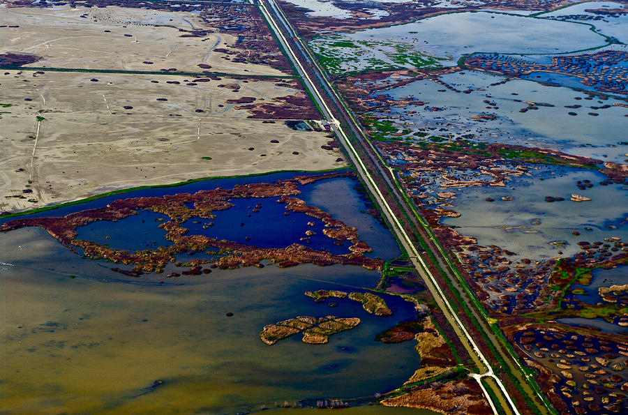 Aerial Photography Photograph - Waterworks 11 by Sylvan Adams