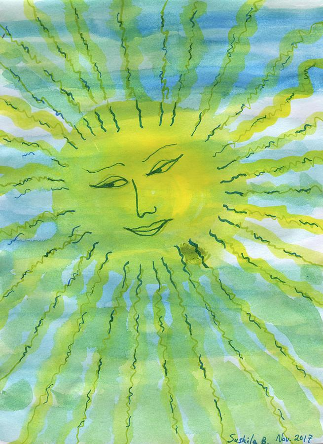 Sunshine Painting - Watery Sunshine by Sushila Burgess