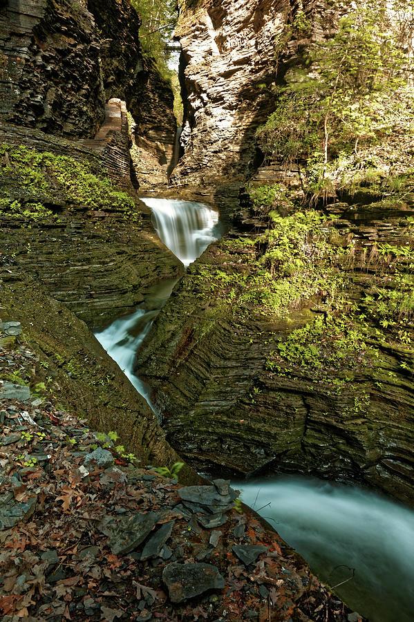 Watkins Glen Photograph - Watkins Glen Waterfall by Doolittle Photography and Art