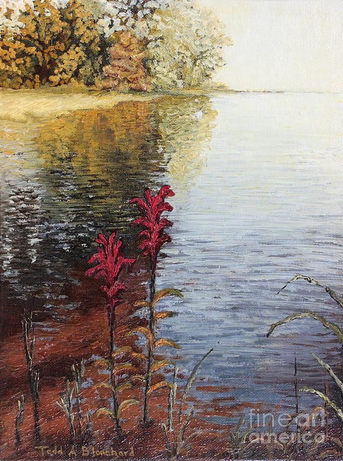 Landscape Painting - Watts Bar Lake Rockwood Tn by Todd A Blanchard