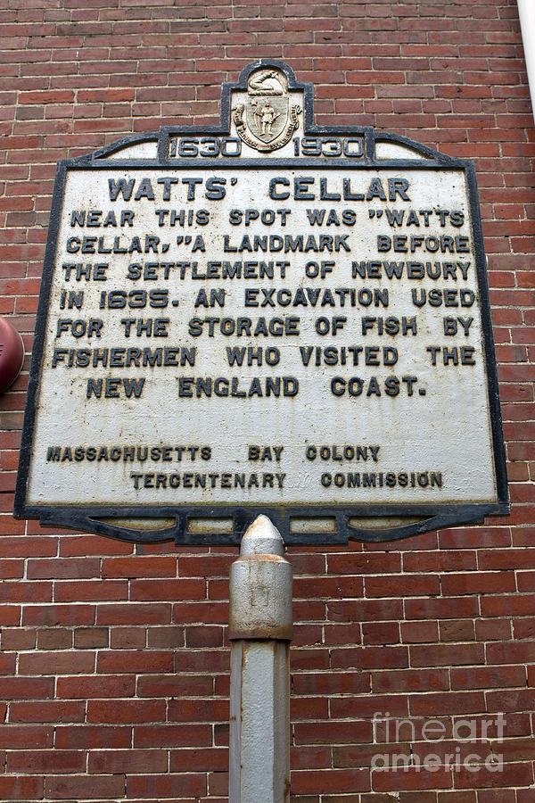 Watts Cellar Photograph