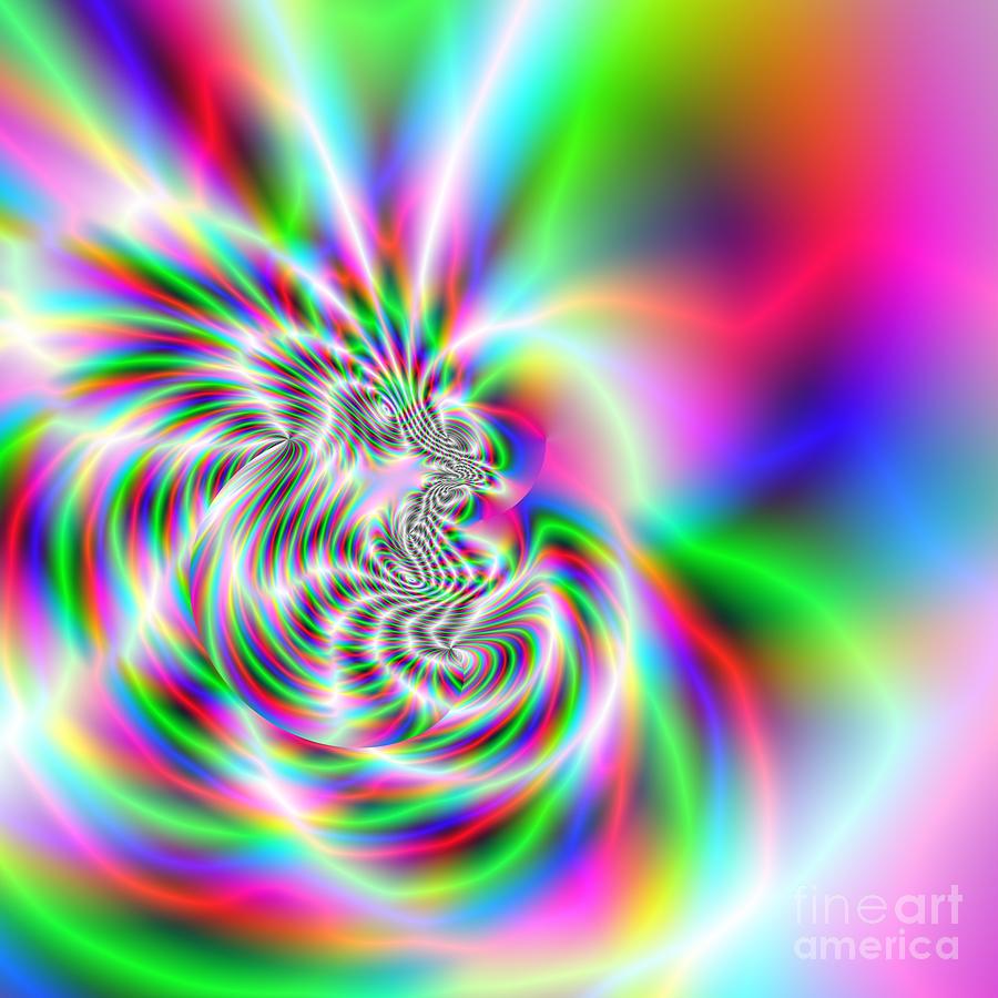 Abstract Digital Art - Wave 002a by Rolf Bertram