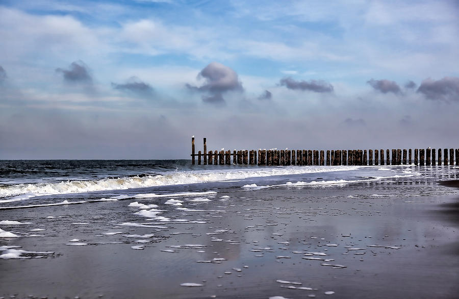 Beach Photograph - Wave Breakers by Annie Snel