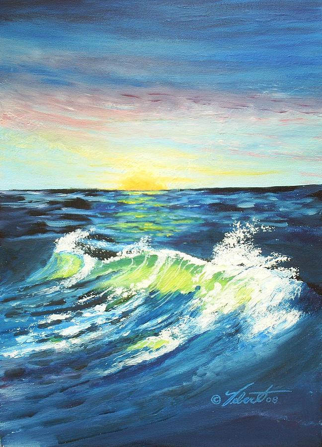 Landscape Painting - Wave By Early Light by Dennis Vebert