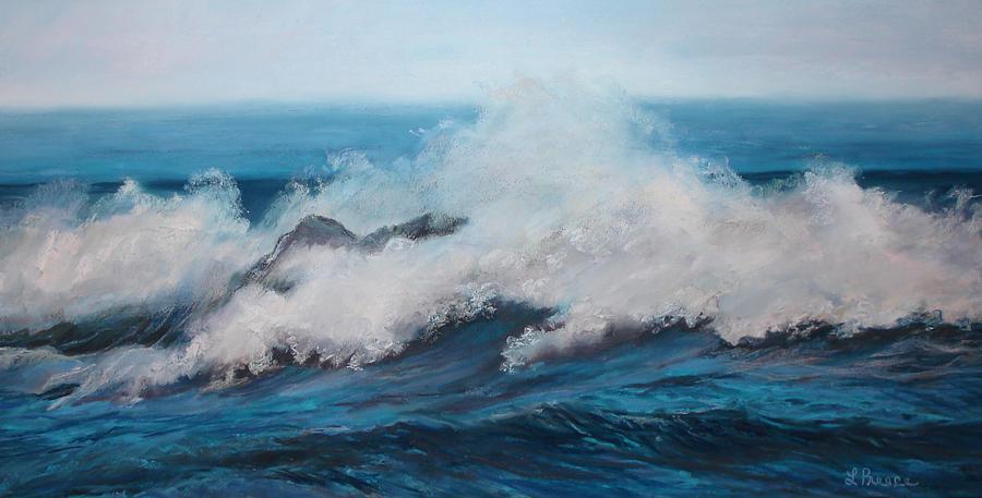Ocean Pastel - Wave by Linda Preece