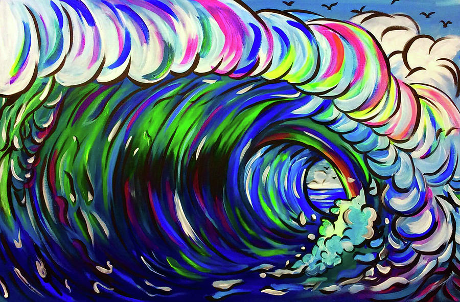 Wave Painting by Lori Teich