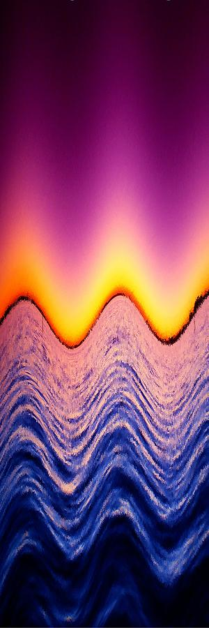 Abstract Photograph - Wave Me A Color by Florene Welebny