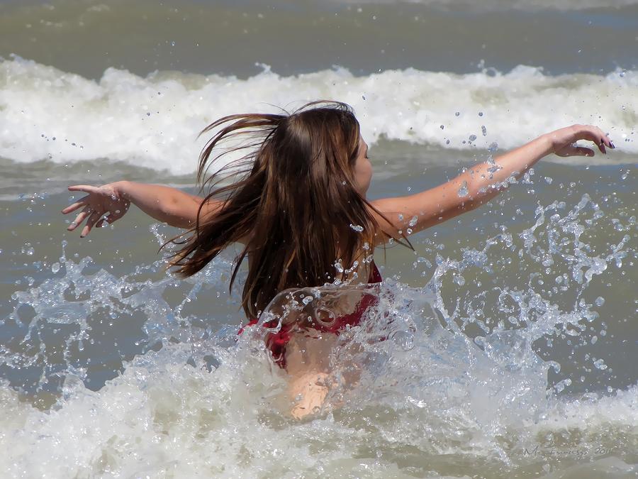 Summer Wave Splash Photograph