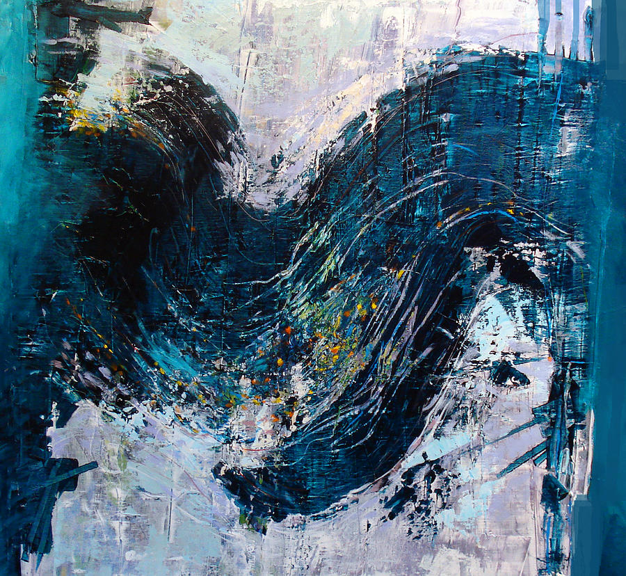 Abstract Painting - Wave Tension by Dale  Witherow