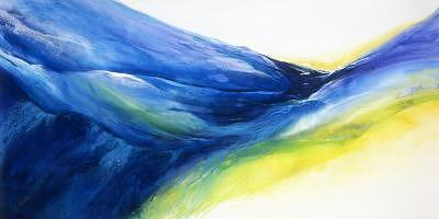 Wave Painting - Wave Trough by Bonnie Carter