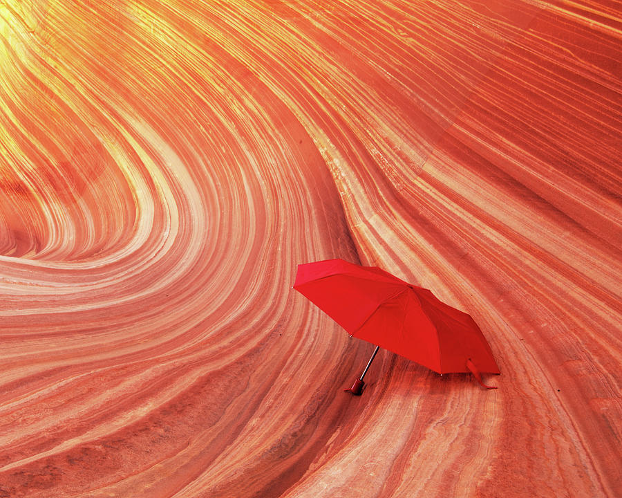 Wave Umbrella Photograph by Norman Hall