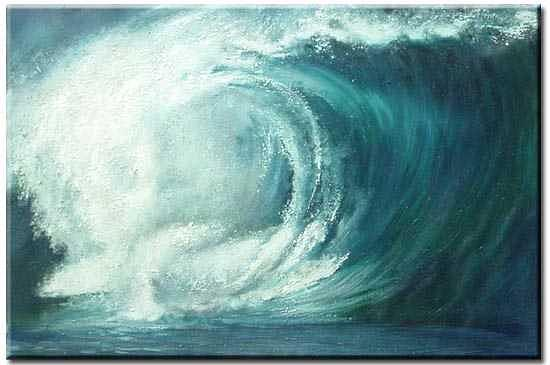 Seascape Painting - Wave6 by Yvonne Yu
