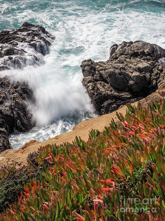 Waves and Rocks at Soberanes Point, California 30296 by John Bald