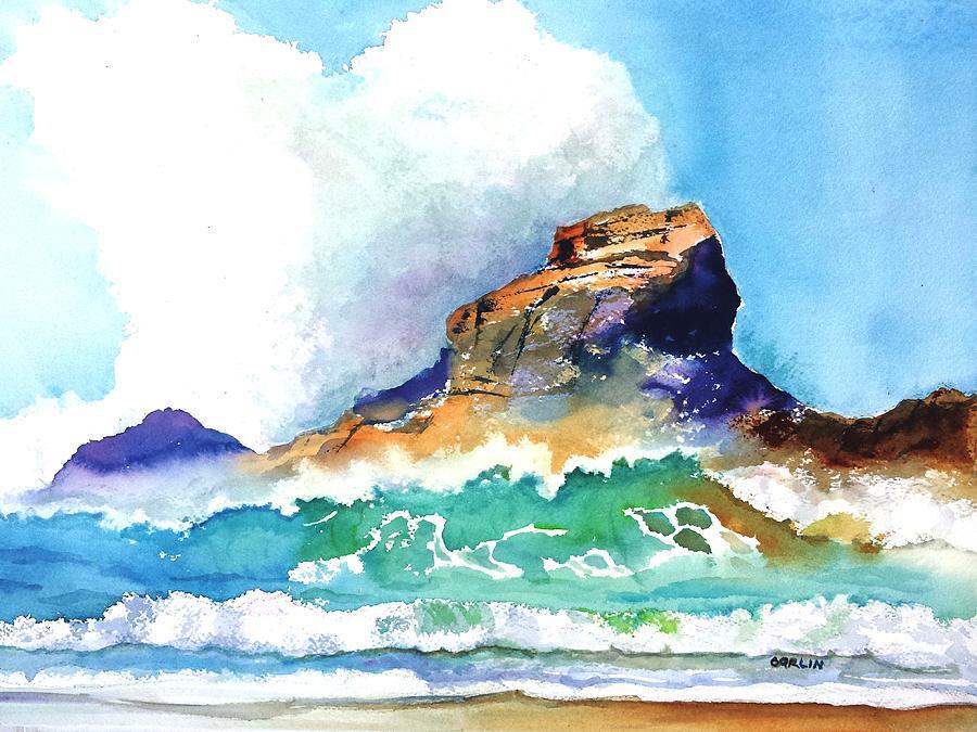 Waves Bursting On Rocks