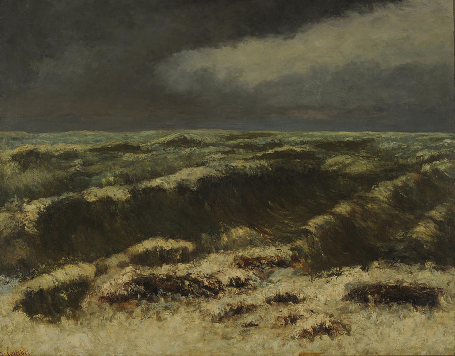 Nature Painting - waves by Gustave Courbet by Gustave Courbet
