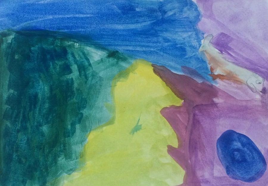 Waves Painting - Waves by Fernanda Machuca
