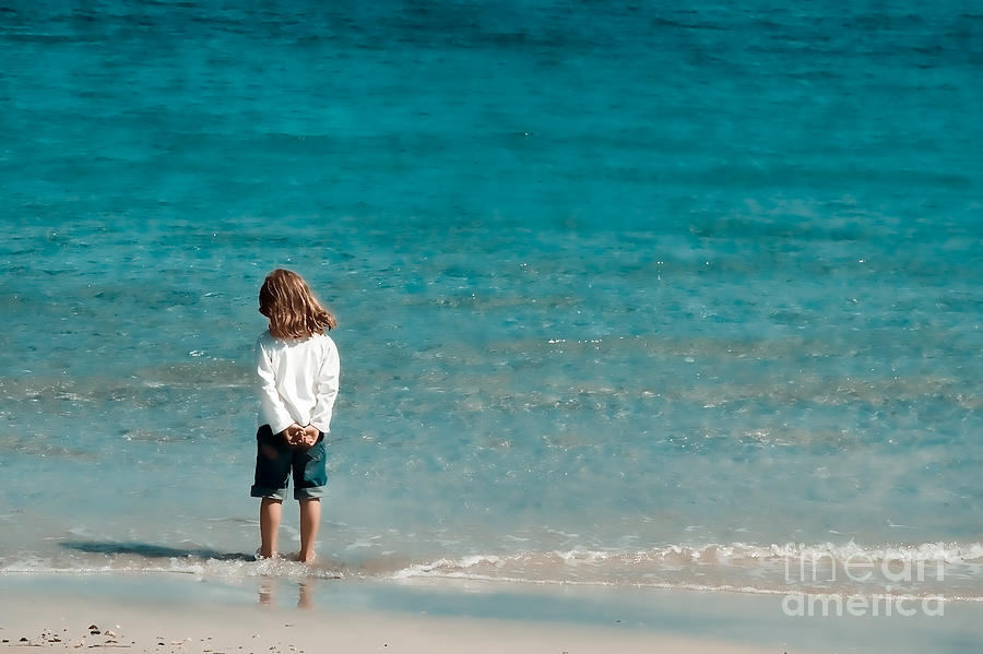 Girl Photograph - Waves by Gabriela Insuratelu