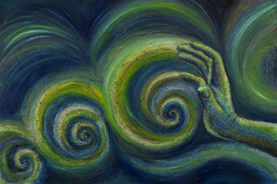 Hands Painting - Waves I by Regina  Lee
