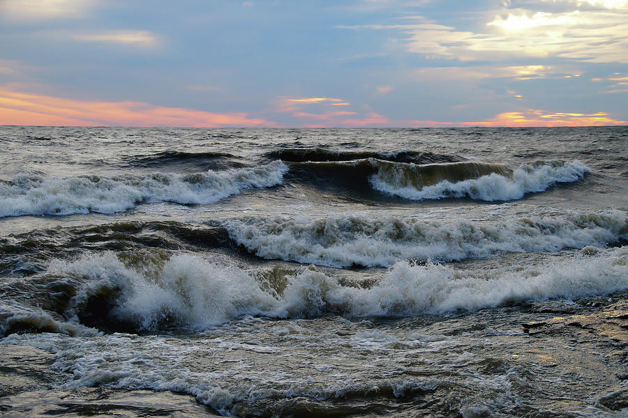 Waves Photograph - Waves in the Morning by Mike Murdock