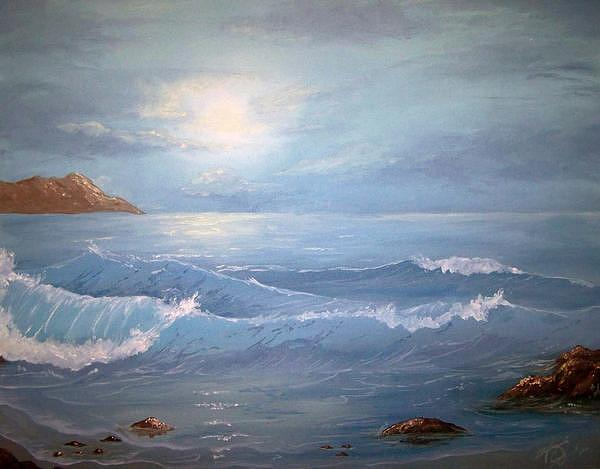 Ocean Painting - Waves Of Redemption by Stephanie Craig