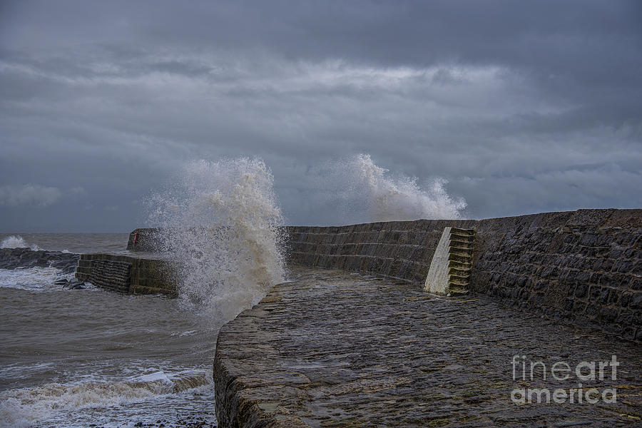 Waves Over The Cobb Photograph