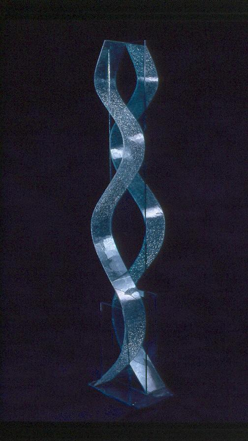 Glass Sculpture - Waves by Rick Silas